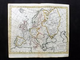 Guthrie 1788 Antique Hand Col Map. Europe from the best Authorities